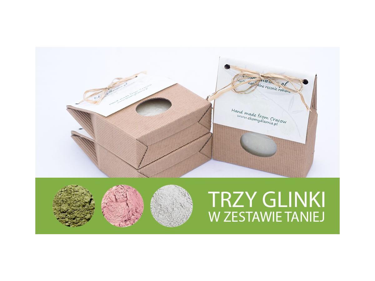 Trzy glinki - zestaw mydeł naturalnych